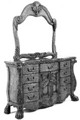 image of a dresser subject to a design patent